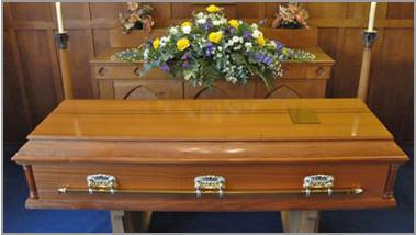 The Stretton coffin - veneered oak